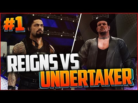 WWE 2K17 Wrestlemania 33 Roman Reigns vs The Undertaker I БОИ ПОДПИСЧИКОВ#1