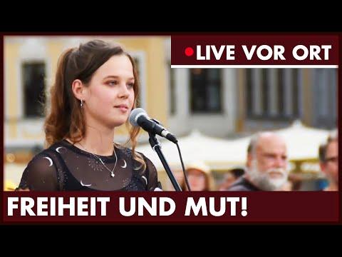Freiheit! Demo in Leipzig und Dresden.