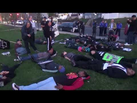 "Eric Garner ""Die-In"" in front of hospital whose EMS workers had neglected to save his life"