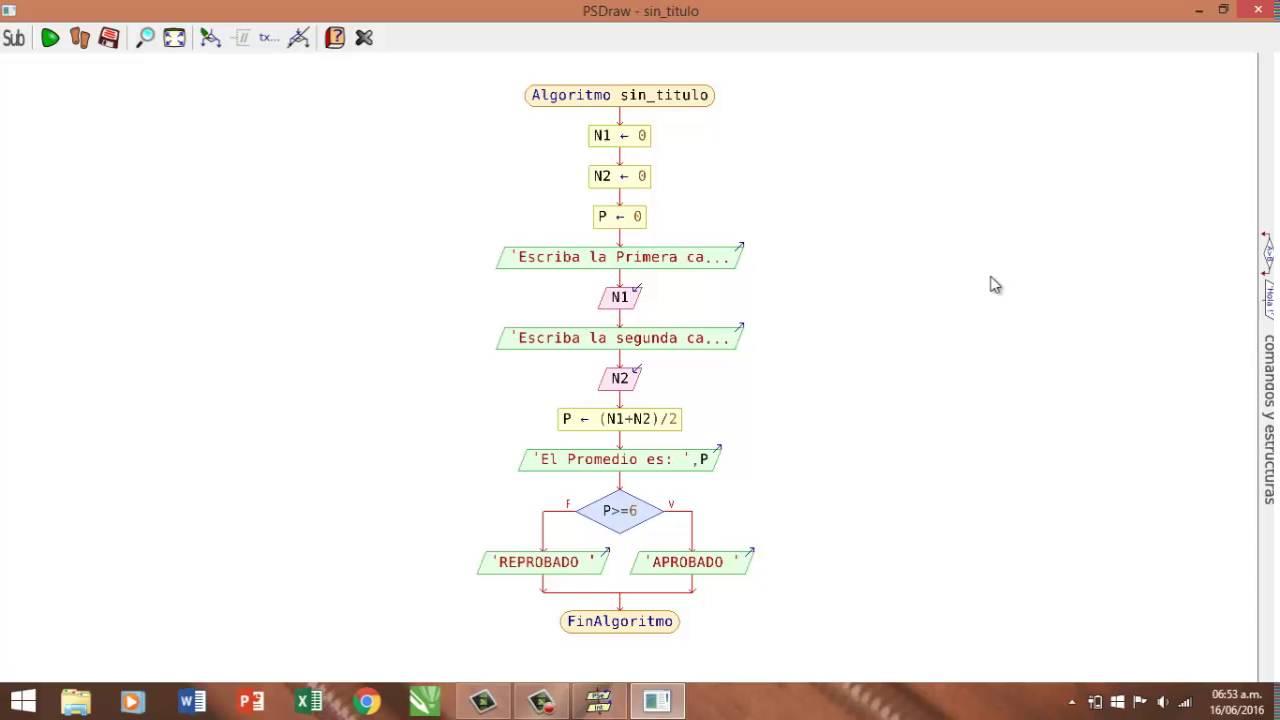 Creacion de algoritmo diagrama de flujo pseudocodigo y programa creacion de algoritmo diagrama de flujo pseudocodigo y programa html con pseint ccuart Image collections