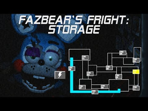 FAZBEAR'S FRIGHT STORAGE - NIGHT 1   TOY BONNIE AND SPRING BONNIE COME TO WELCOME THE NEW SECURITY