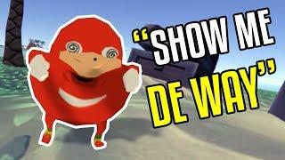 Invading Ugandan Knuckles Island - VR CHAT - Funny Moments