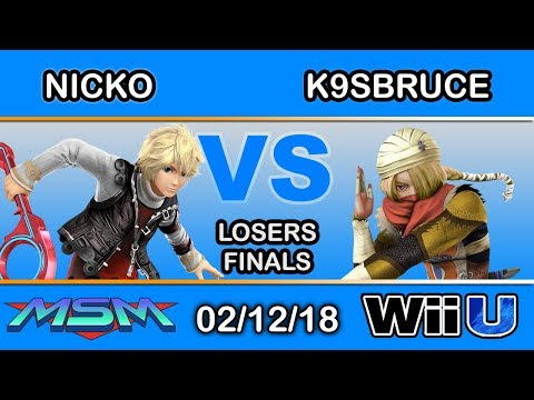 MSM 133 - FAD | Nicko (Shulk) vs. K9sbruce (Sheik) Losers Finals - Smash 4