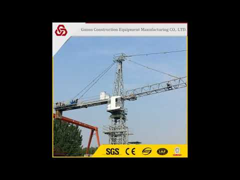 Max load six 6 ton seating platform safe operations 5013 tower crane for sale