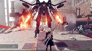 NieR Automata - NEW Gameplay Boss Battle Demo (PS4, PC) 2017