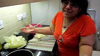 Stuffed Cabbage Recipe Assyrian Iraqi Vegetarian Dolma - Quorn Part 2/3