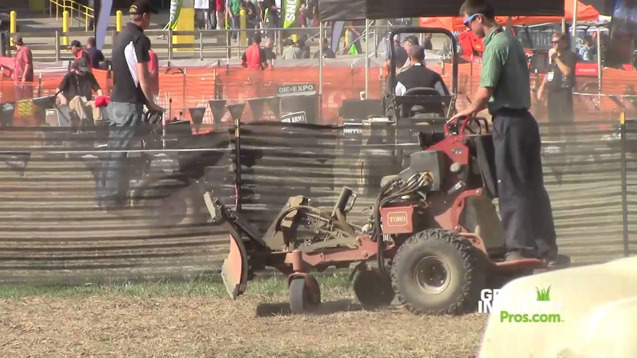 Toro Grandstand Multi Force Mower With Boss Snowplow Youtube