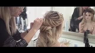 Промо ролик Мастер-класс от Надежды Гербер  Греческая причёска на основе жгутов