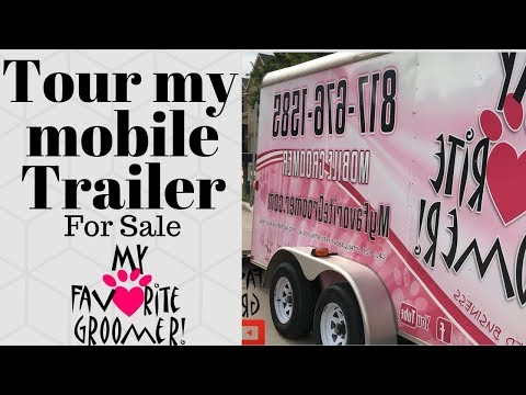 Tour of my grooming trailer