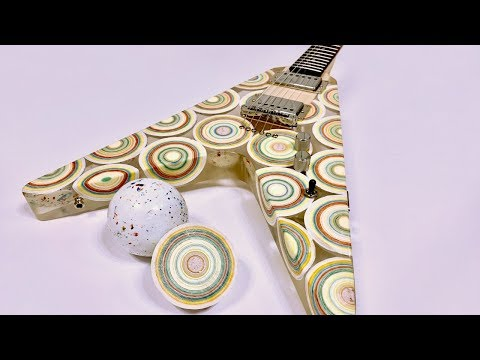 I Built a Guitar Out of 8 Mega Jawbreaker Candies