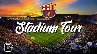 The camp nou stadium, (the in english) is largest football stadium europe, seating just under 100,000 spectators. and it's home to fc barcelo...