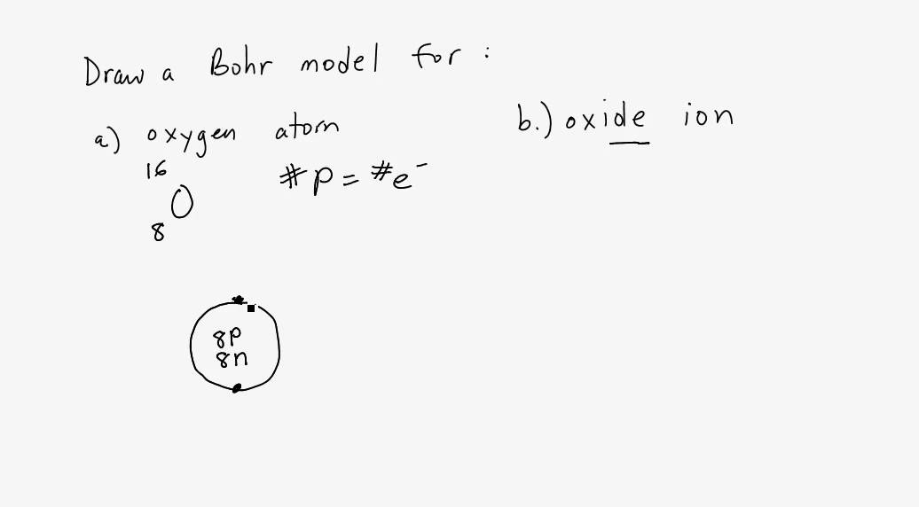 Bohr Model For Oxygen Atom Youtube
