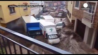 Riada espectacular en las calles de Adra, Almería