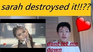 """REACTION TO LOVELY SARAH GERONIMO SINGS """"DON'T LET ME DOWN"""""""