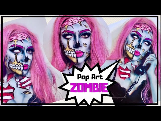POP ART ZOMBIE ???????? ! HALLOWEEN 2018 #MaquillateconDaniel