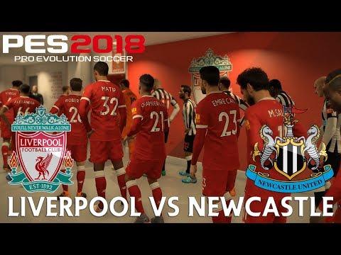 PES 2018 (PC) Liverpool v Newcastle | REALISTIC PREMIER LEAGUE PREDICTION | 3/3/2018 | 1080P 60FPS