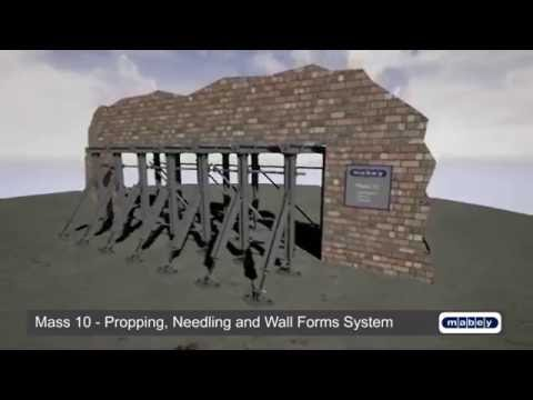 Mass10 - Propping, Needling and Wall Forms System - Promotional Video