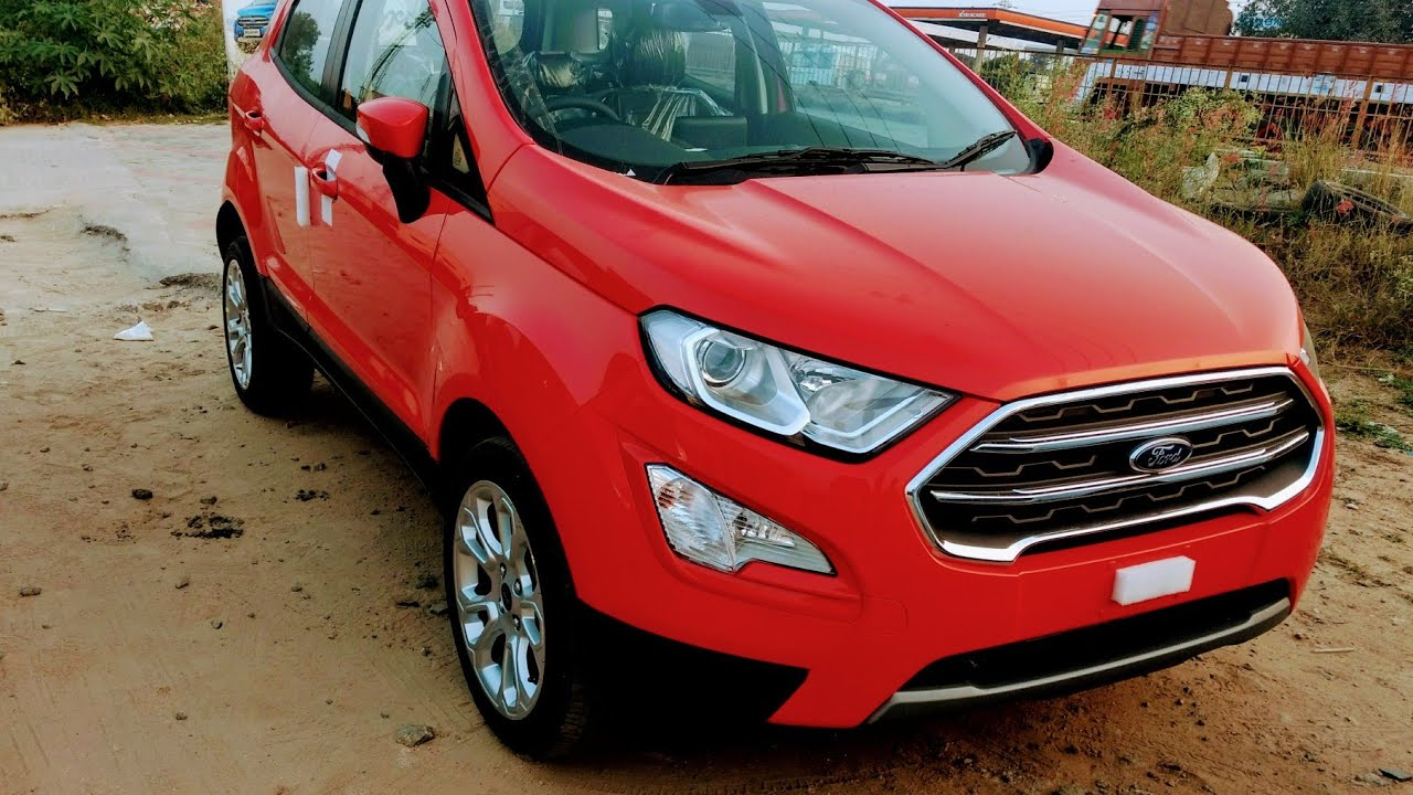 2018 new ford ecosport race red color titanium plus. Black Bedroom Furniture Sets. Home Design Ideas