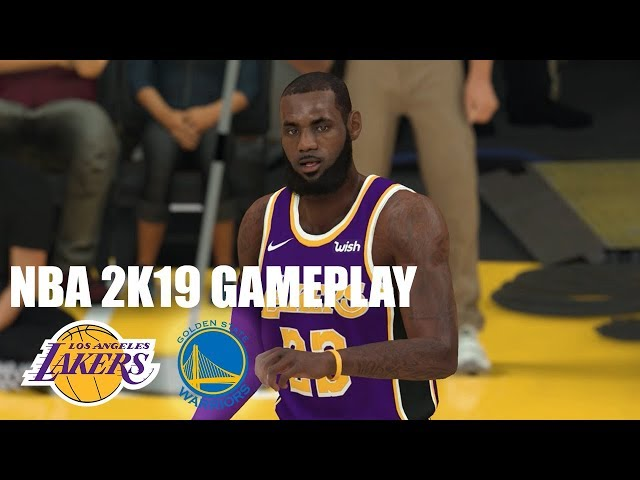 7282c5b05d29 NBA 2K19 Gameplay Video - Los Angeles Lakers vs. Golden State Warriors -  Operation Sports