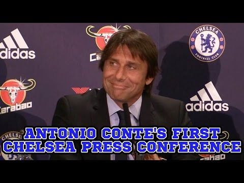 Antonio Conte's First Chelsea Press Conference As Manager In Full