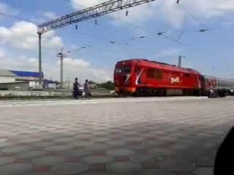 Поезд на ст. Хасавюрт.