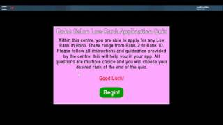 Boho Salon~Application Answers~Roblox