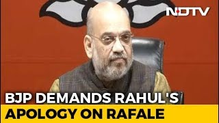 """Who Is Your Source?"" Amit Shah Targets Rahul Gandhi After Rafale Verdict"