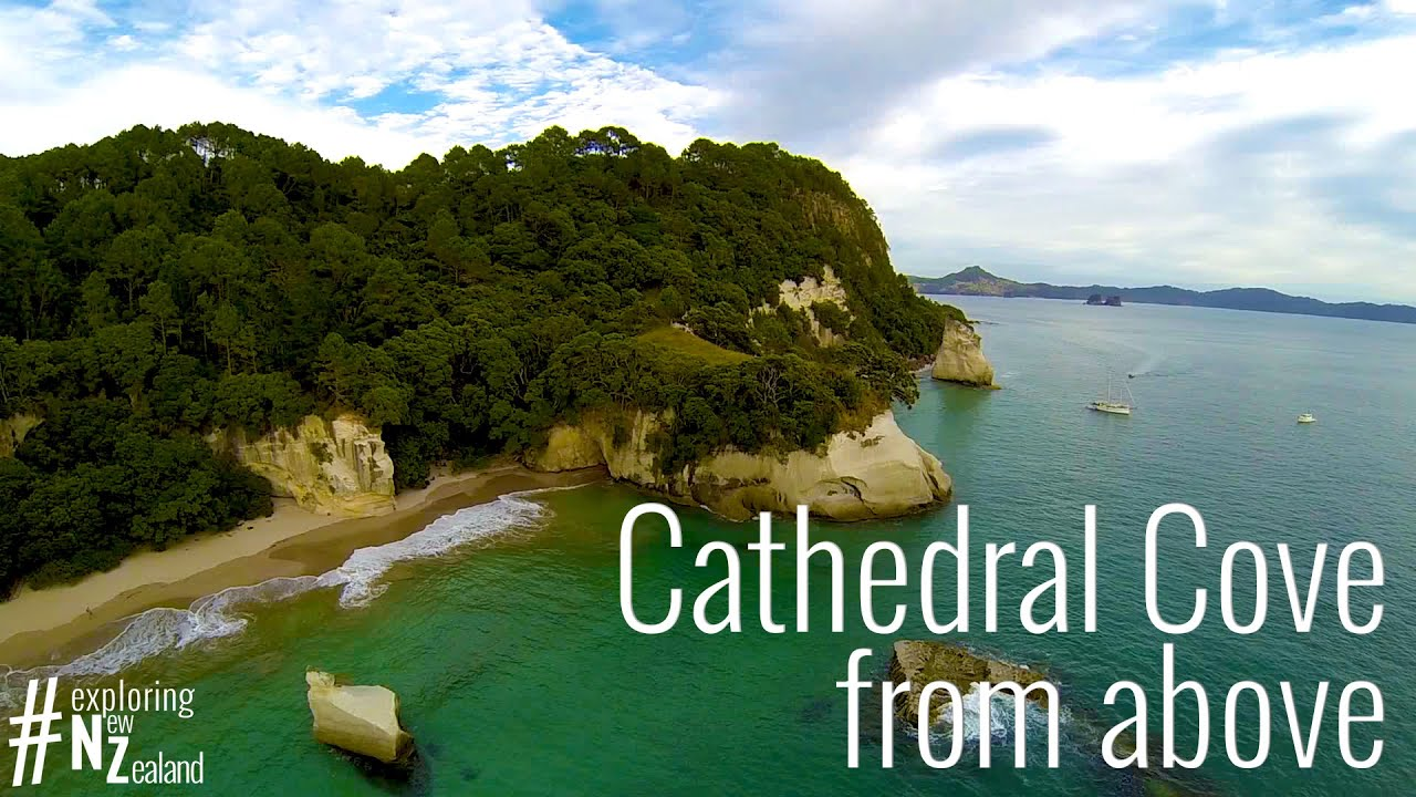 cathedral cove from above coromandel exploring new. Black Bedroom Furniture Sets. Home Design Ideas