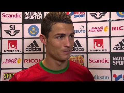 Cristiano Ronaldo interview after  match Sweden vs Portugal 2013-11-19