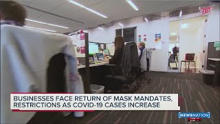 Business face return of mask mandates, restrictions as COVID-19 case increase