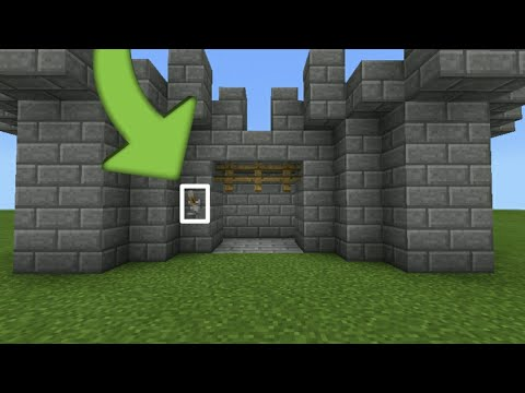 MCPE:How To Make CASTLE GATE