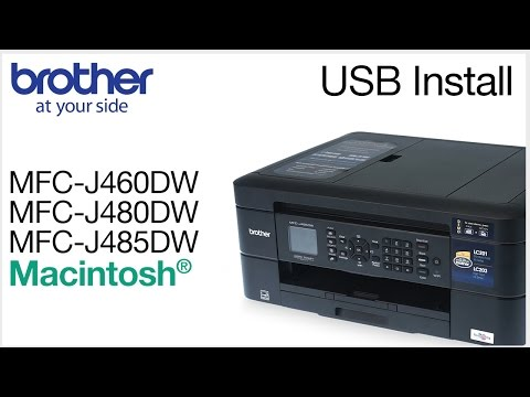 Installing MFCJ460DW MFCJ480DW or MFCJ485DW with a USB cable - Macintosh® Version