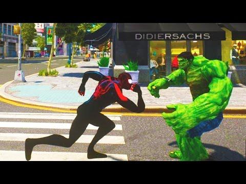 Ultimate Spider-Man VS The Incredible Hulk - GTA 4 (MOD) HD