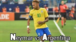 Neymar Jr vs Argentina  (16/10/2018) HD 720p