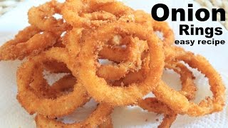 Onion Rings easy recipe/tea time snack