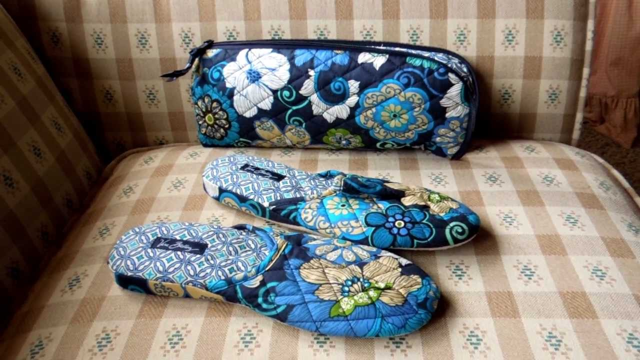 3b7813657ef9 Vera Bradley Slippers With Pouch Review - YouTube