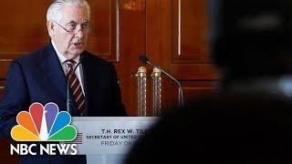 Secretary Rex Tillerson Explains How North Korean 'Talks' Differ From 'Negotiations' | NBC News