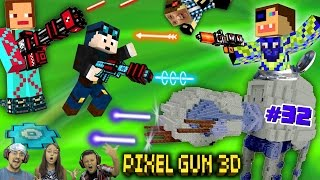 FGTEEV vs. You! + DANTDM Shoots Us!?!!  PIXEL GUN 3D Star Wars ATAT Map Part 32 w/ Subscribers