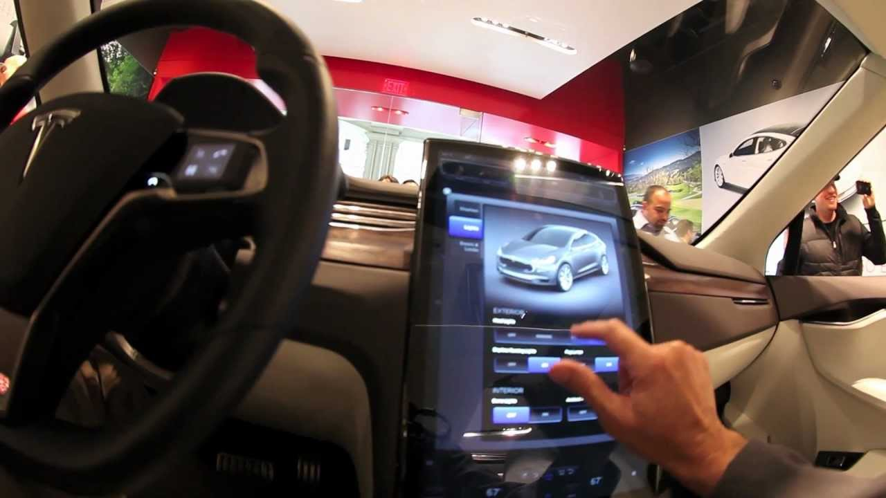 Inside the Tesla Model X - YouTube