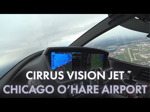 Cirrus Vision Jet Departing Chicago O'Hare Airport (KORD)