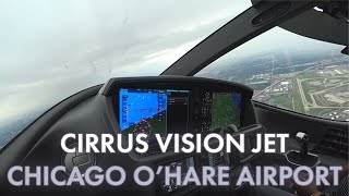 Cirrus Vision Jet Departing Chicago O