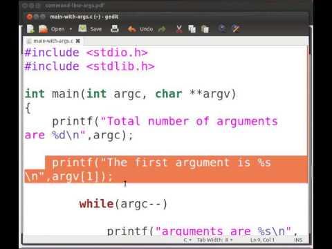 command line arguments in c pdf