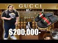 BUYING GUCCI FLIP FLOPS w/ Trainwreckstv