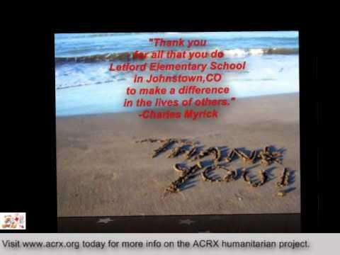 Letford Elementary School Receive Tribute & Health Help by ACRX