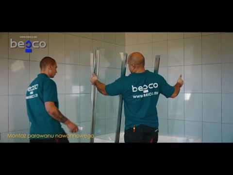 Монтаж шторок для ванн BESCO - Mirsan.com.ua