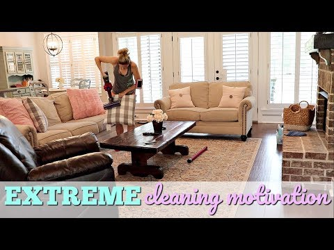 EXTREME CLEANING MOTIVATION // ENTIRE DOWNSTAIRS CLEANING // CLEAN WITH ME 2018 //