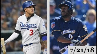 Los Angeles Dodgers vs Milwaukee Brewers Highlights || July 21, 2018