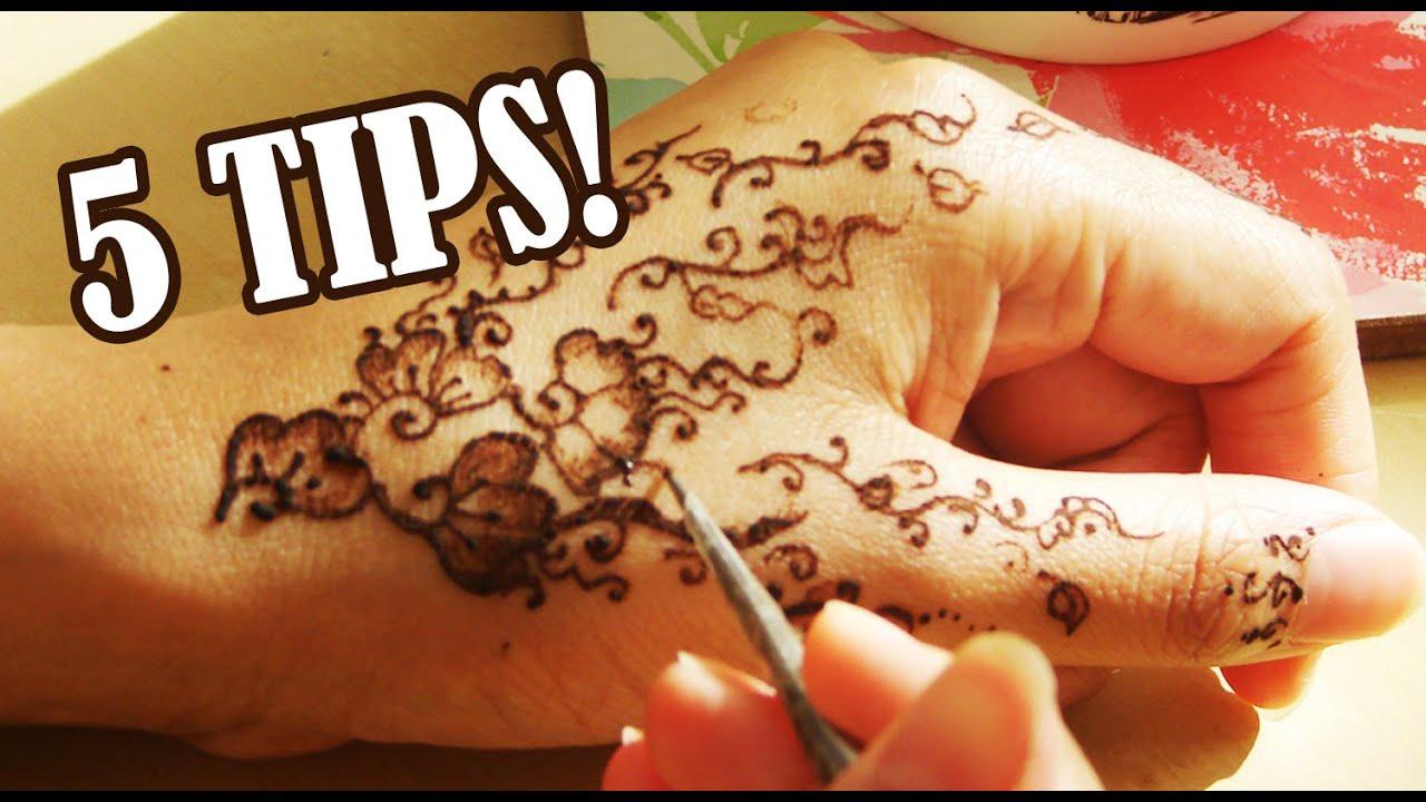 Mehndi Henna Tips : Tips for henna mehndi art youtube