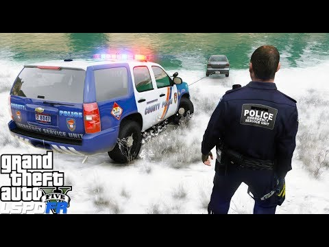 GTA 5 LSPDFR Police Mod #611 Westchester County Police Emergency Service Unit - Snow Day