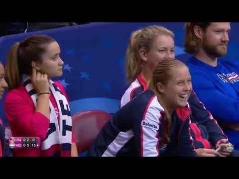 SERENA Williams / Venus Williams Vs Kerkhove / Schuurs FED CUP 2018 HD Highlights